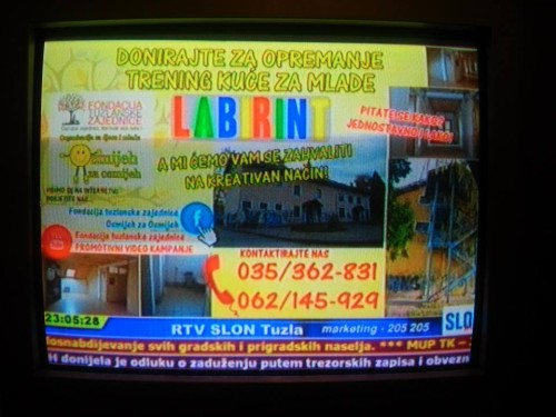 Telop u programu RTV Slon extra