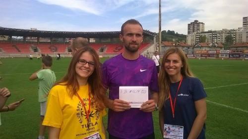 Naše Samira i Dženita u društvu Evropskog prvaka u atletici i trećeg svjetskog atletičara Amela Tuke